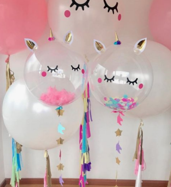 Globo de Helio con confeti de Unicornio