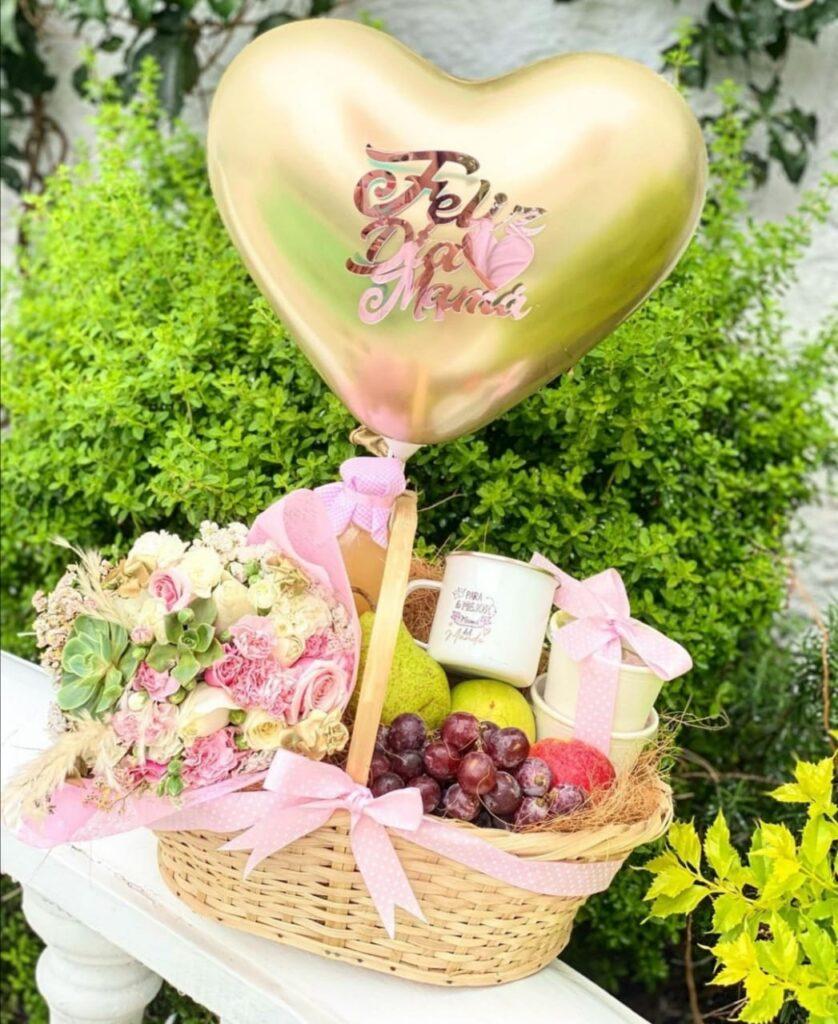 canasta de flores y frutas con envio en toluca